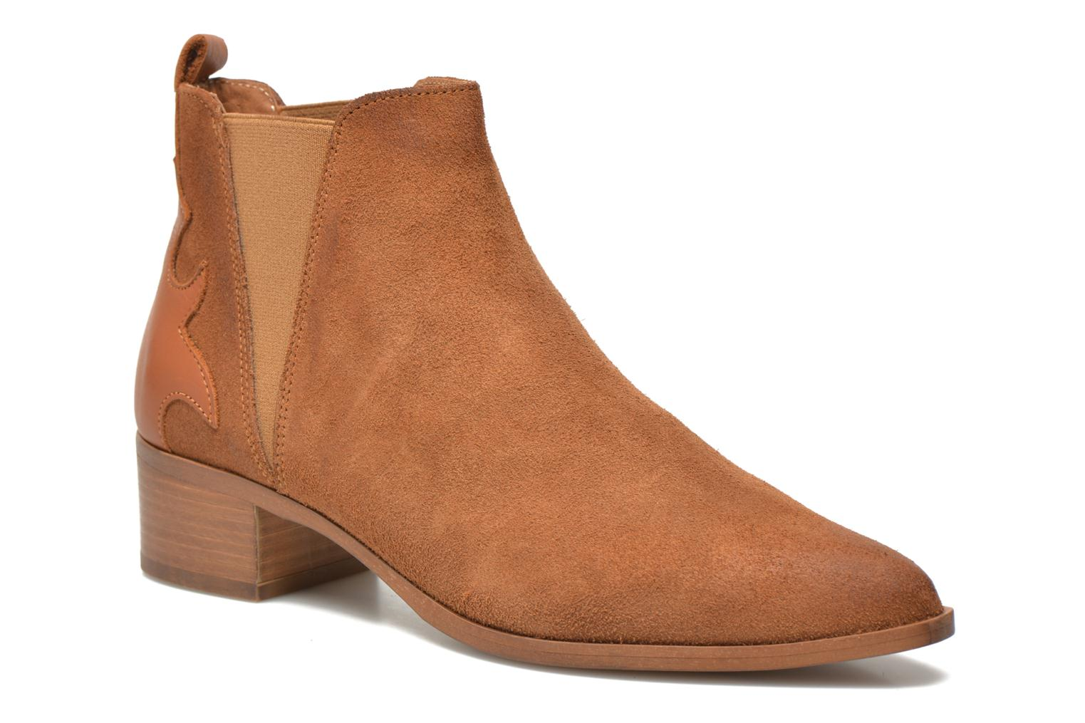 Ankle boots Bronx Vik Brown detailed view/ Pair view