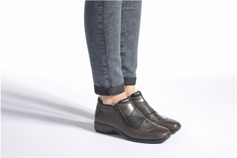 Bottines et boots Rieker Holy L3860 Gris vue bas / vue portée sac