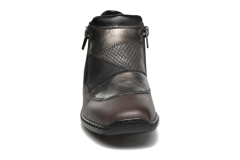 Bottines et boots Rieker Holy L3860 Gris vue portées chaussures