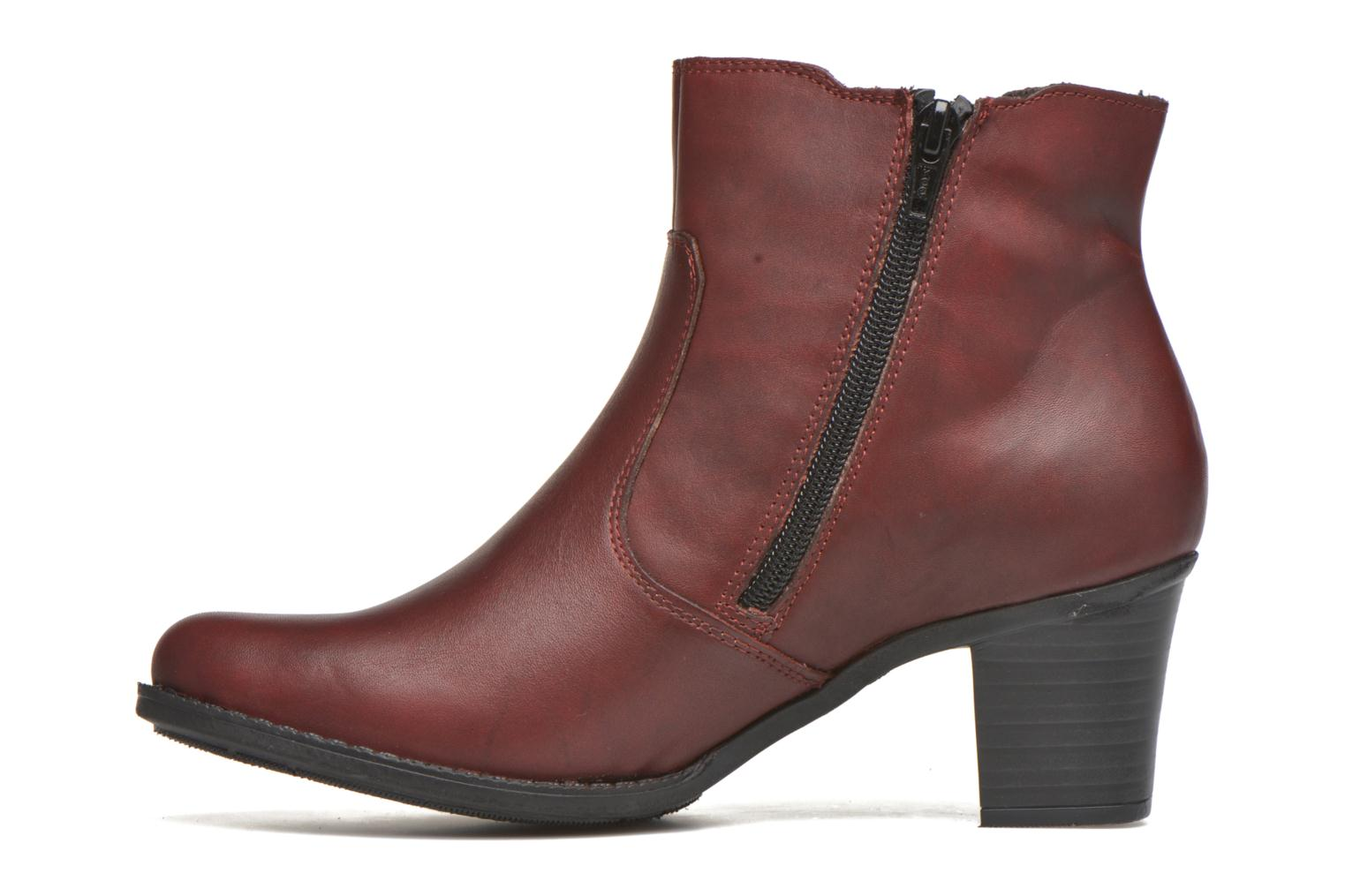 Bottines et boots Rieker Pita Z7650 Bordeaux vue face