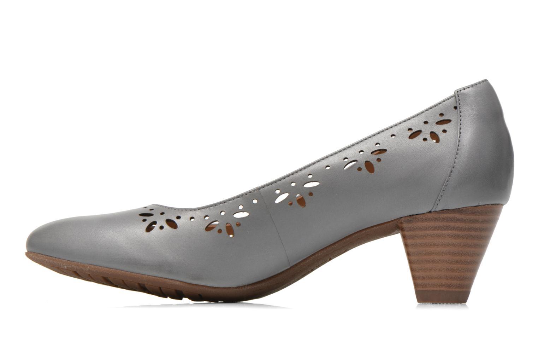 Zapatos de tacón Clarks Denny Dazzle Gris vista de frente