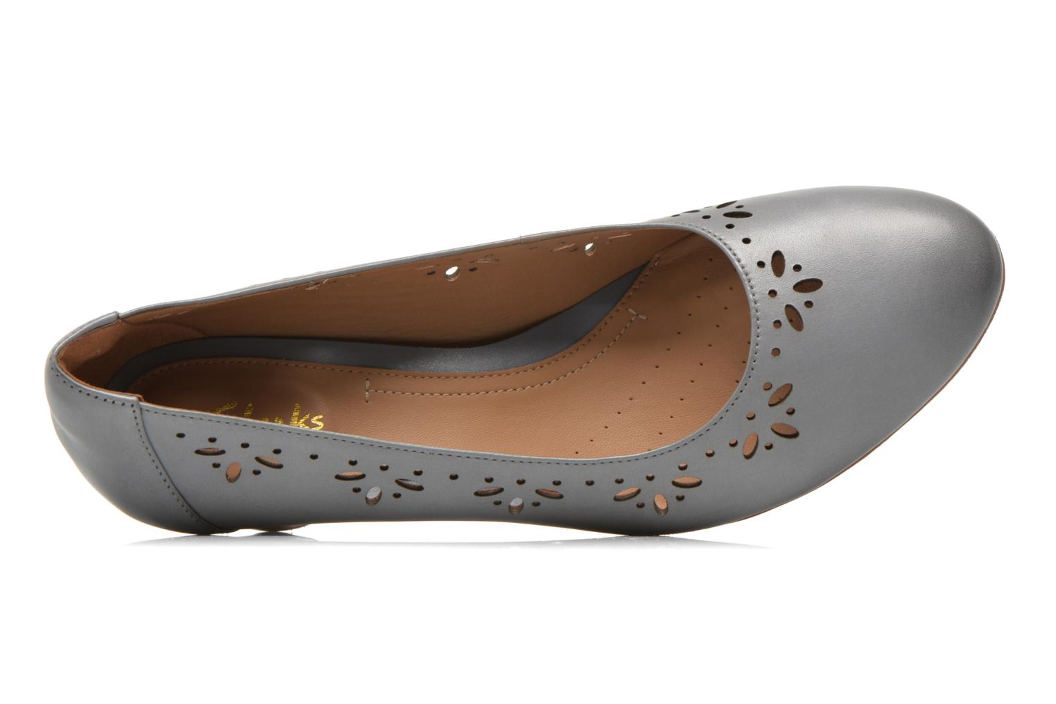 High heels Clarks Denny Dazzle Grey view from the left