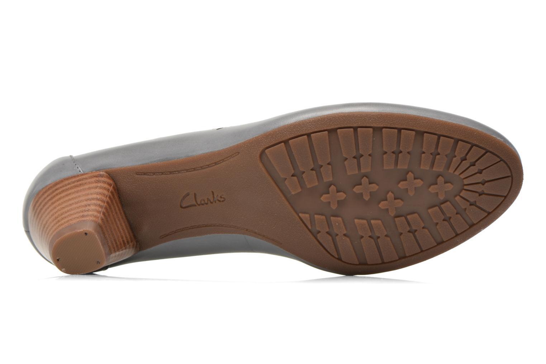 Zapatos de tacón Clarks Denny Dazzle Gris vista de arriba