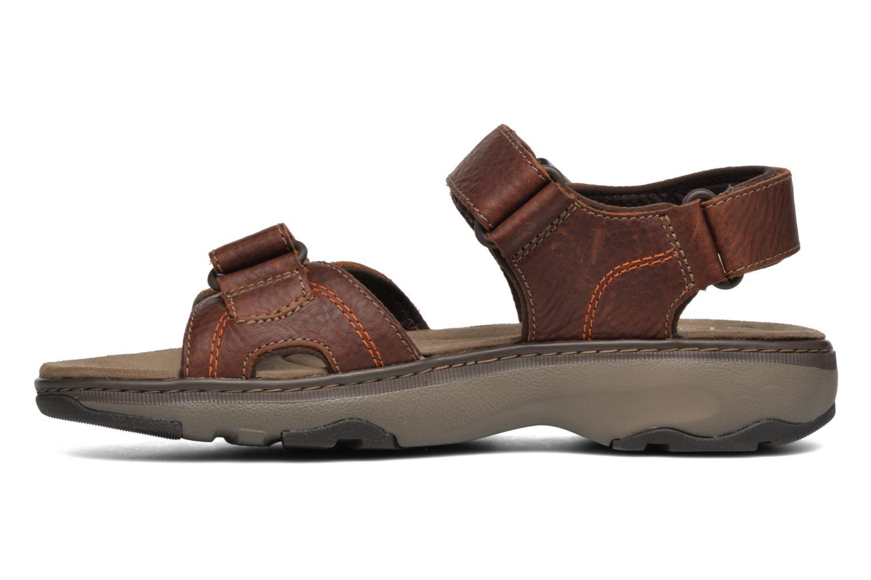 Sandales et nu-pieds Clarks RaffeSun Marron vue face