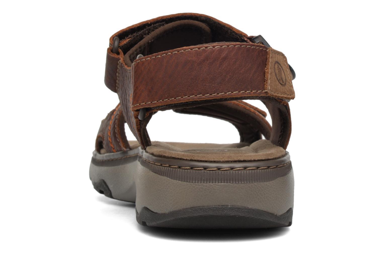 Sandales et nu-pieds Clarks RaffeSun Marron vue droite