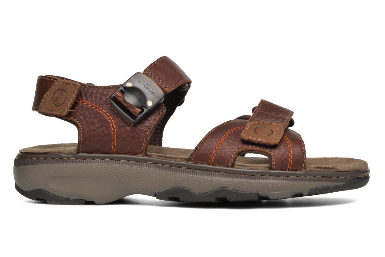 Sandales et nu-pieds Clarks RaffeSun Marron vue derrière