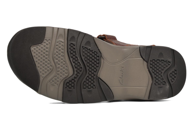 Sandales et nu-pieds Clarks RaffeSun Marron vue haut