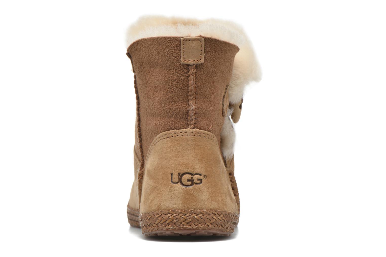 Bottines et boots UGG W Garnet Marron vue droite