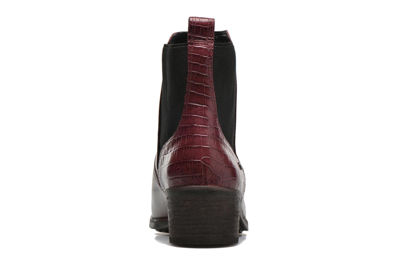 Bottines et boots UGG W Keller Croco Rouge vue droite