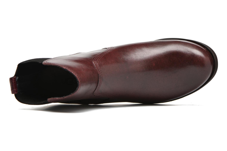 Bottines et boots UGG W Keller Croco Rouge vue gauche