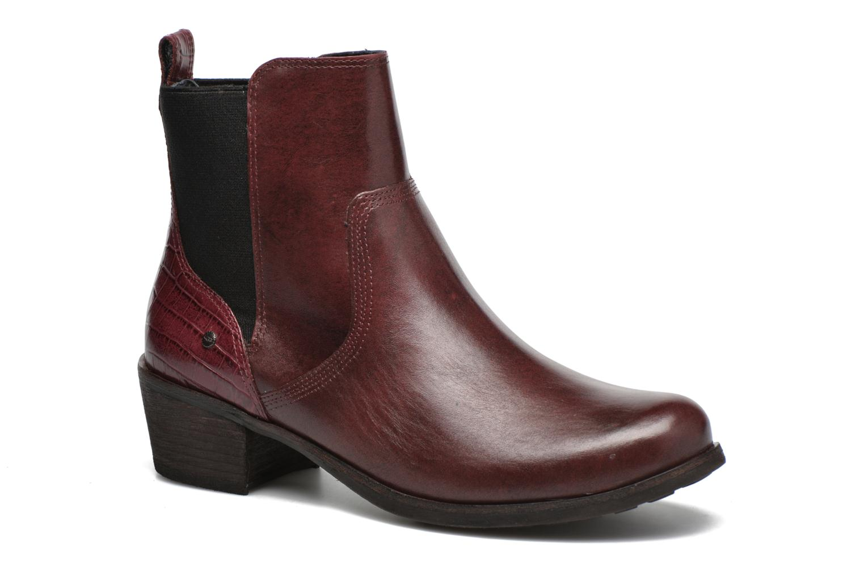 Bottines et boots UGG W Keller Croco Rouge vue détail/paire