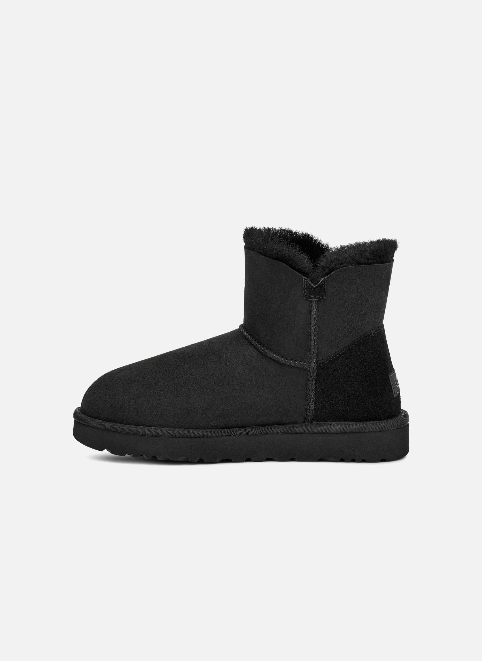 Stiefeletten & Boots UGG W Mini Bailey Button II schwarz ansicht von vorne