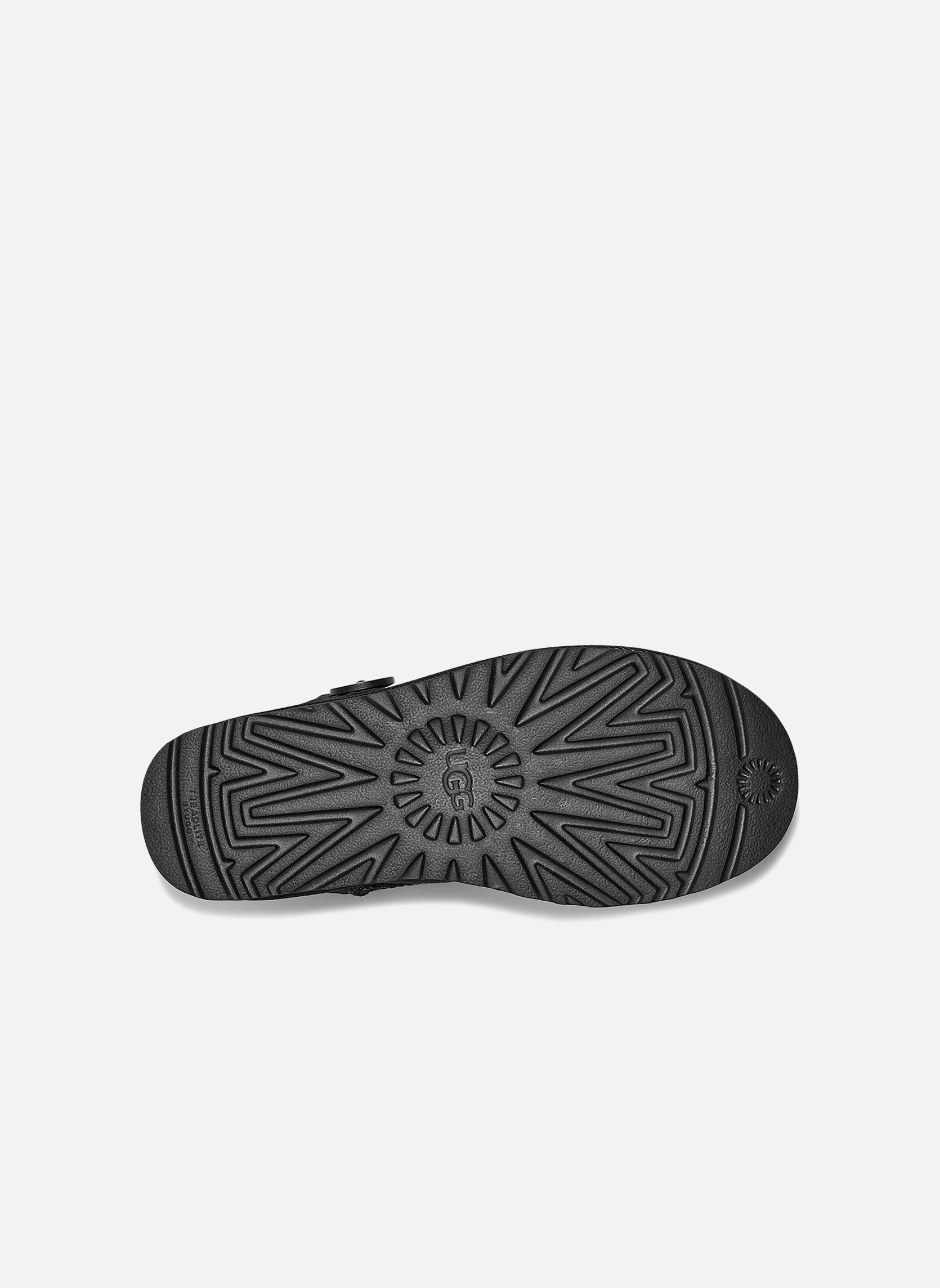 Bottines et boots UGG W Mini Bailey Button II Noir vue gauche