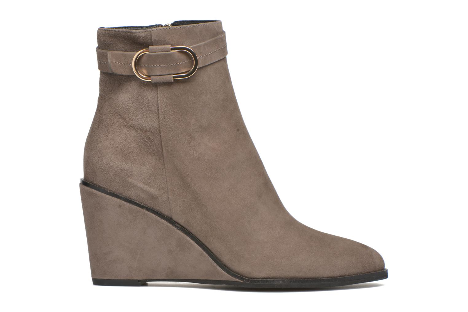 Ankle boots What For Griz Brown back view