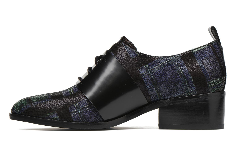 Zapatos con cordones What For Goxoy Azul vista de frente