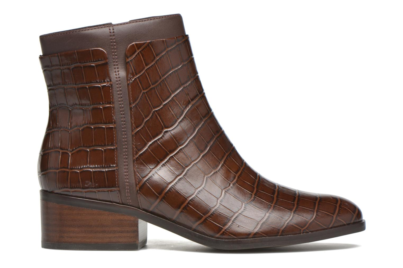 Ankle boots What For Panhu Brown back view