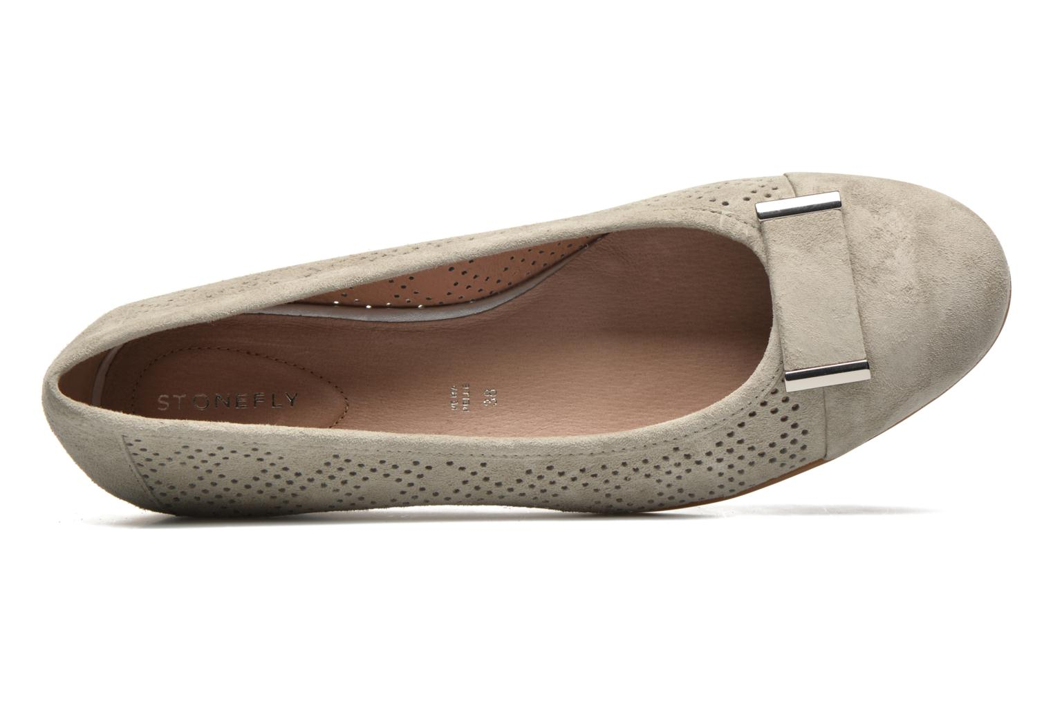 Ballet pumps Stonefly Maggie II 2 Pig Nubuck Beige view from the left