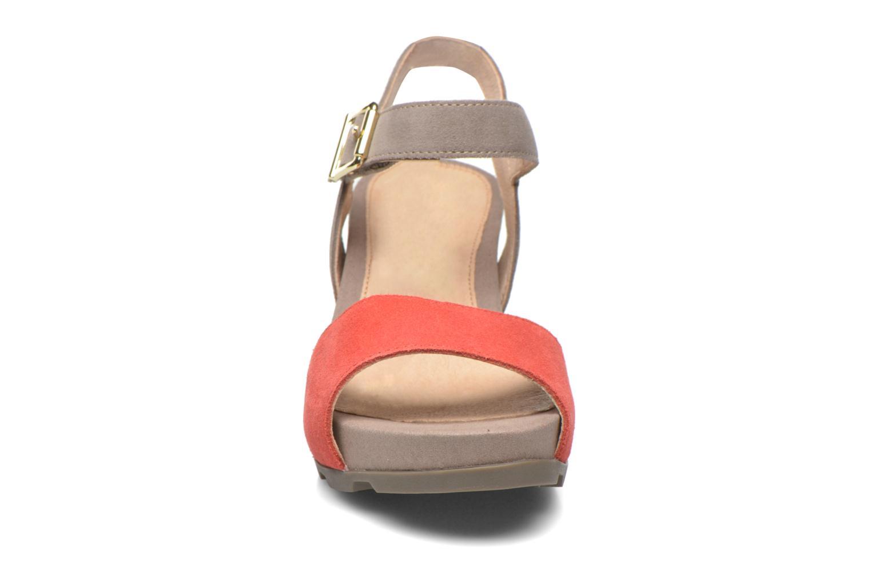 Sandali e scarpe aperte Stonefly Anita 1 Velour Grigio modello indossato