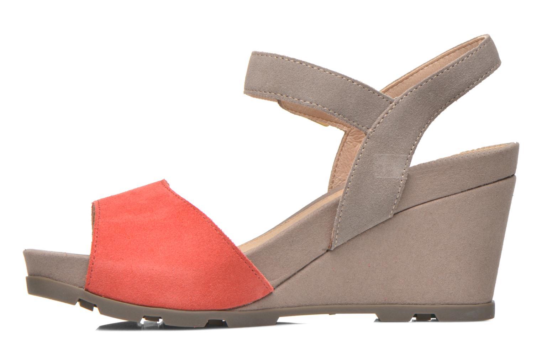 Sandales et nu-pieds Stonefly Anita 1 Velour Gris vue face