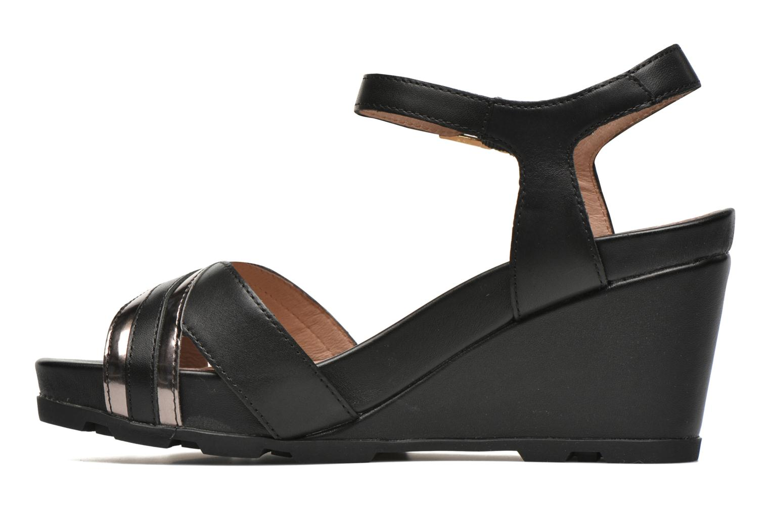 Sandals Stonefly Anita 4 Black front view