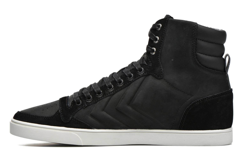 Sneaker Hummel Ten Star Mono Oiled High schwarz ansicht von vorne