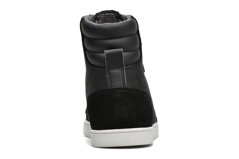 Sneaker Hummel Ten Star Mono Oiled High schwarz ansicht von rechts