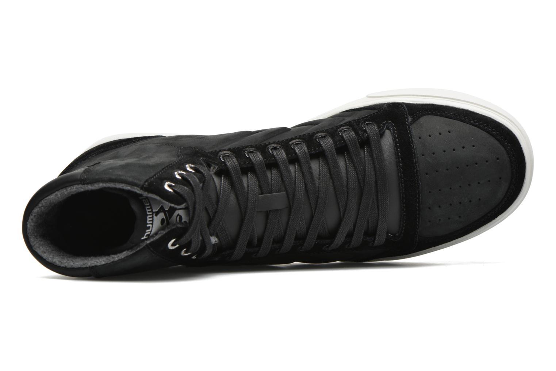 Sneaker Hummel Ten Star Mono Oiled High schwarz ansicht von links