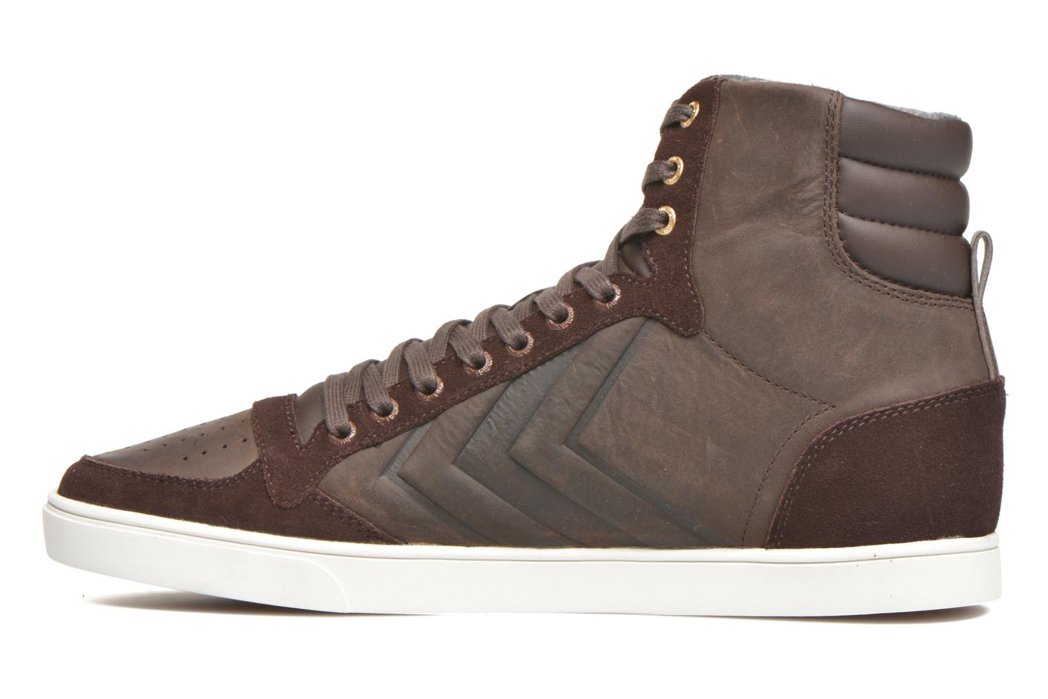 Sneakers Hummel Ten Star Mono Oiled High Brun se forfra