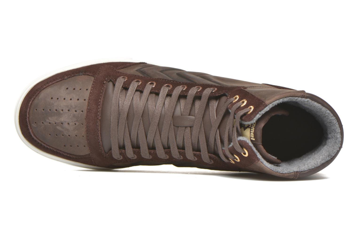 Sneakers Hummel Ten Star Mono Oiled High Brun se fra venstre