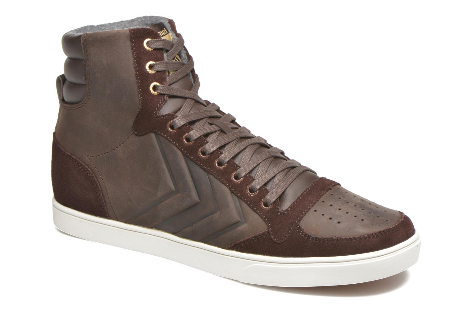 Sneakers Hummel Ten Star Mono Oiled High Brun detaljeret billede af skoene