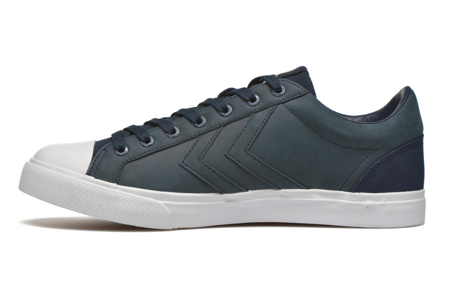 Trainers Hummel Baseline Court Leather Blue front view