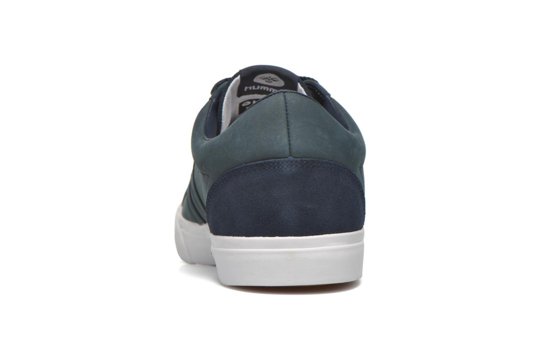 Baskets Hummel Baseline Court Leather Bleu vue droite