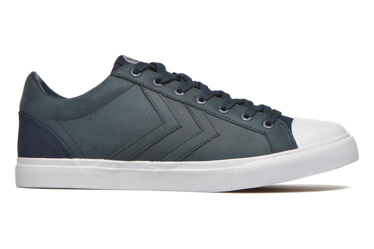 Trainers Hummel Baseline Court Leather Blue back view
