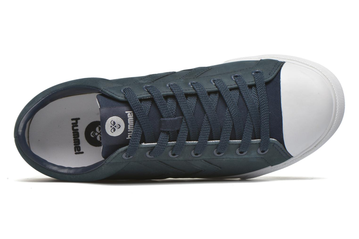 Trainers Hummel Baseline Court Leather Blue view from the left