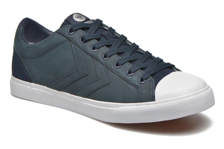 Baskets Hummel Baseline Court Leather Bleu vue détail/paire