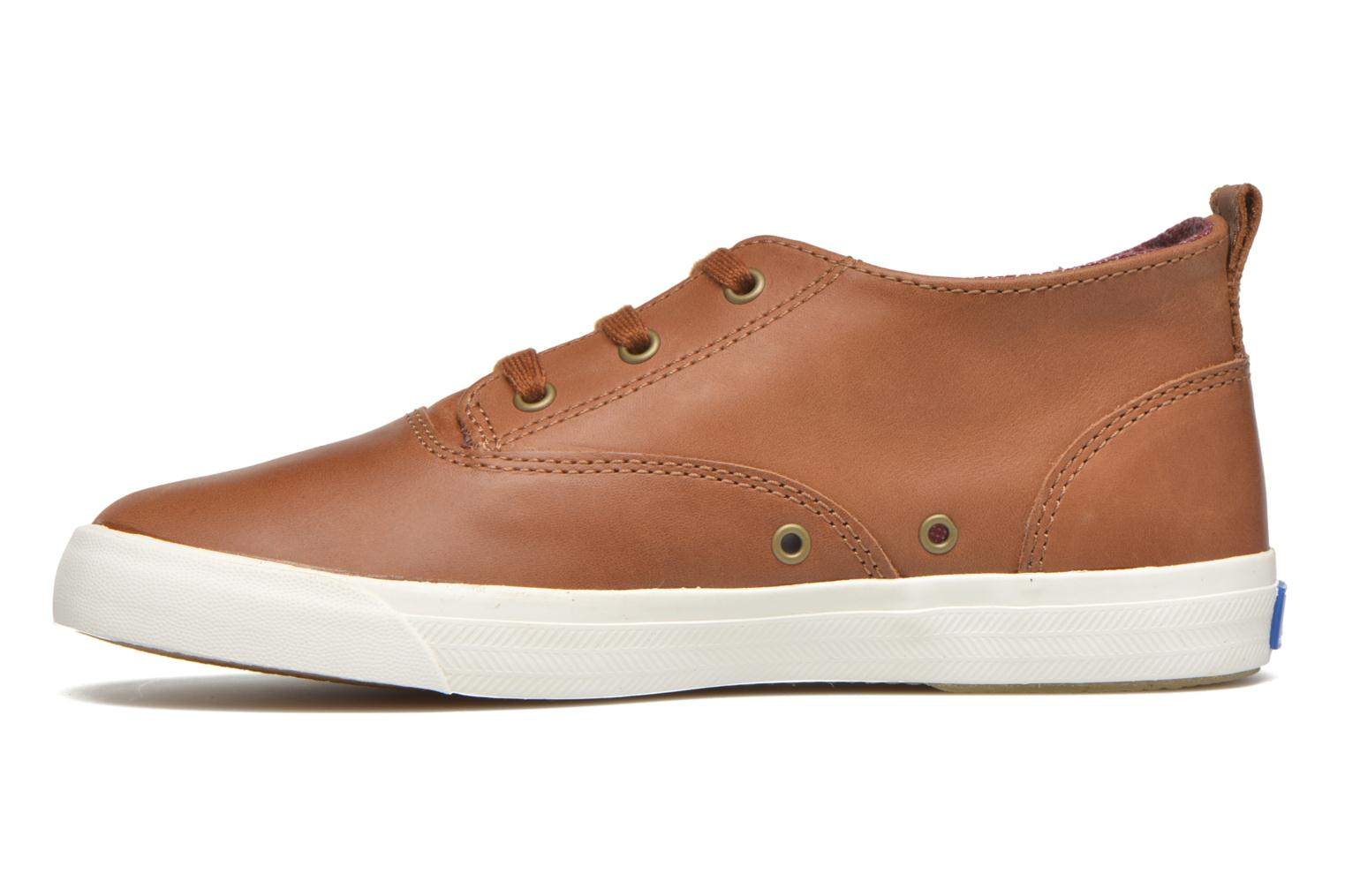 Sneakers Keds Triumph Mid Leather Bruin voorkant