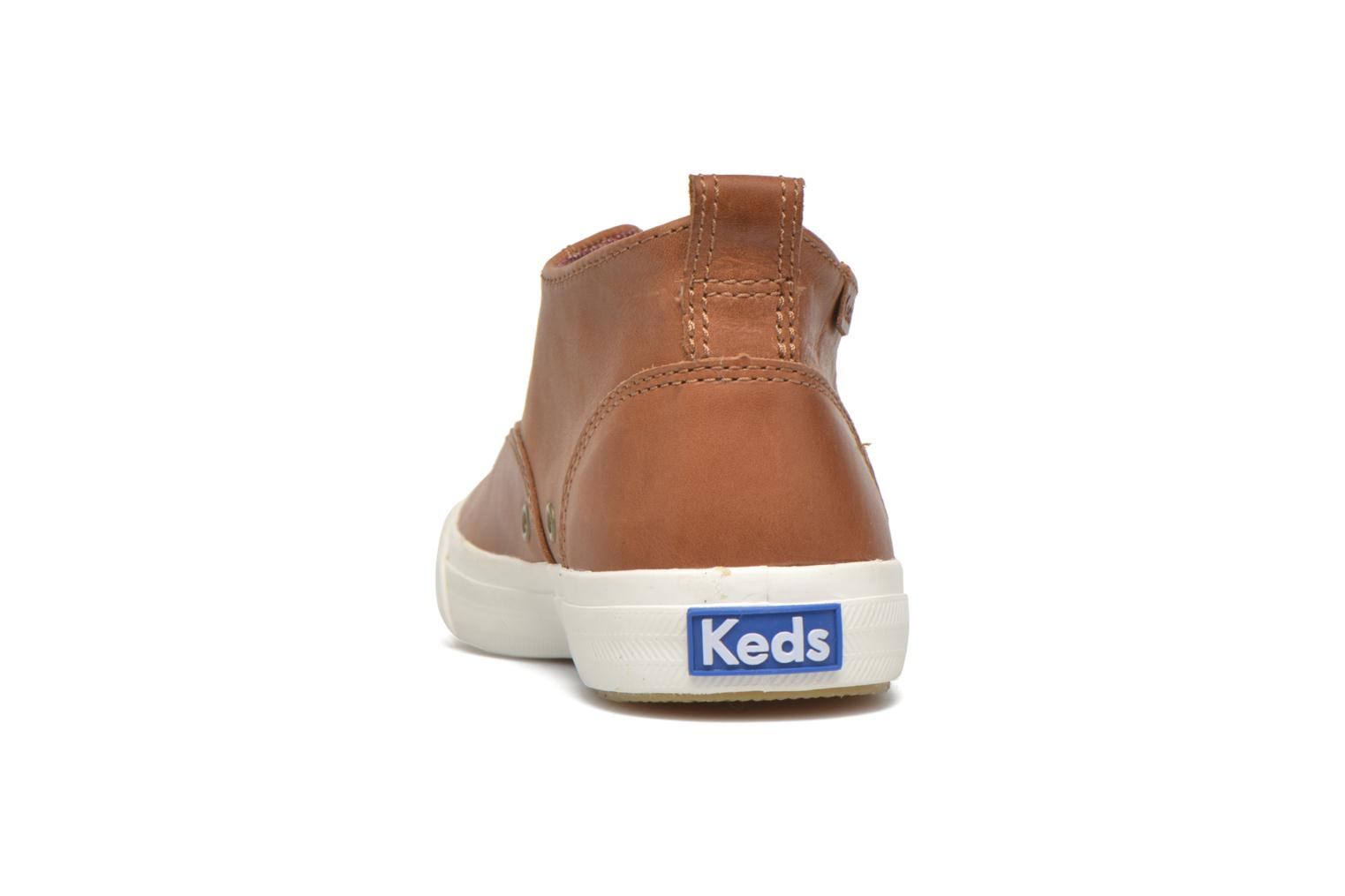 Trainers Keds Triumph Mid Leather Brown view from the right