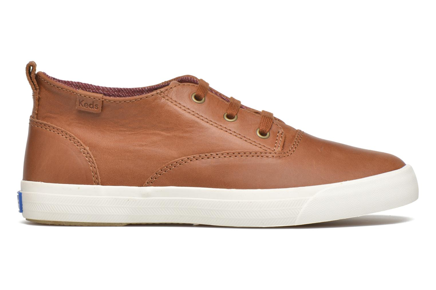 Sneakers Keds Triumph Mid Leather Bruin achterkant