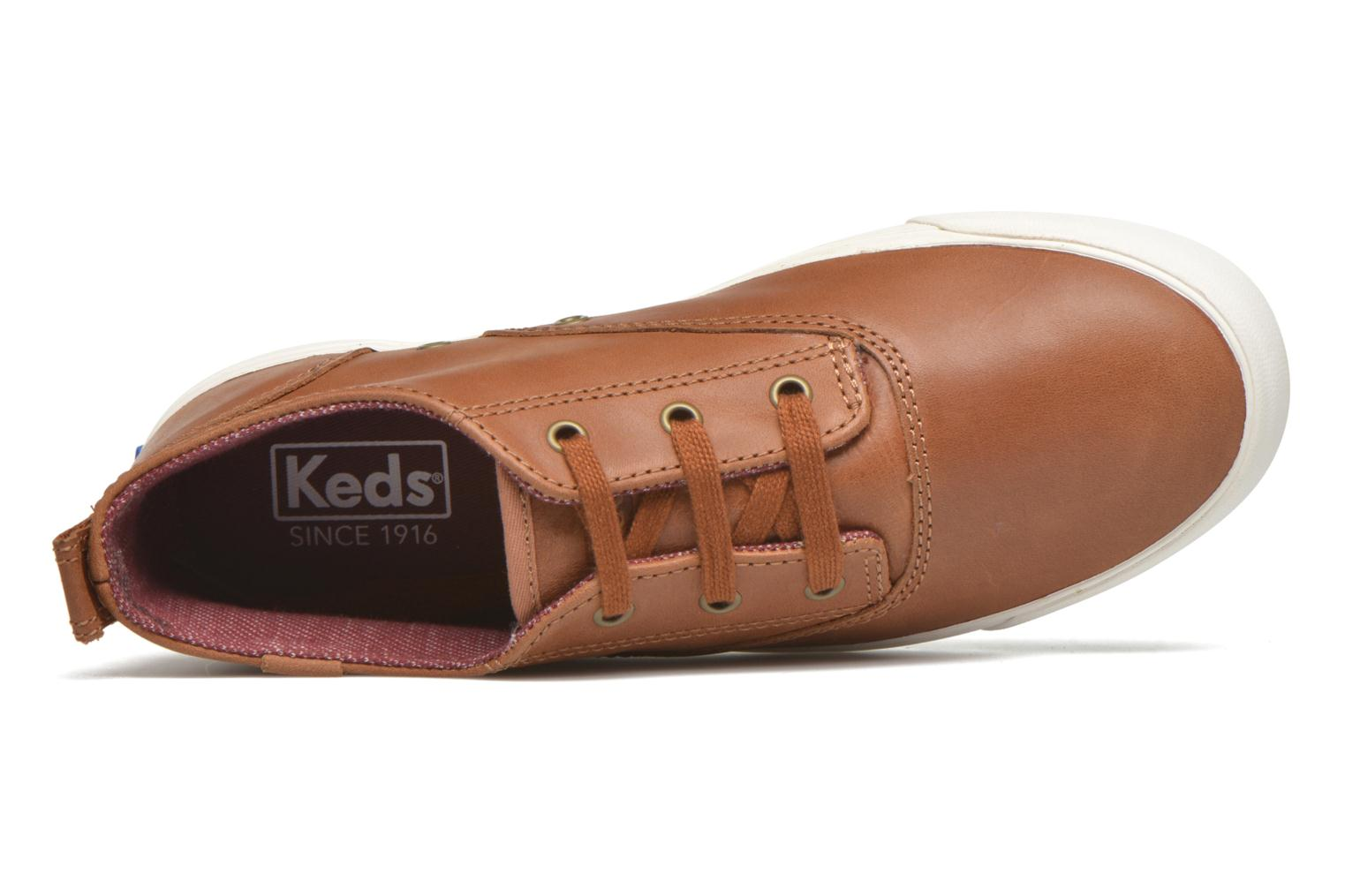 Trainers Keds Triumph Mid Leather Brown view from the left