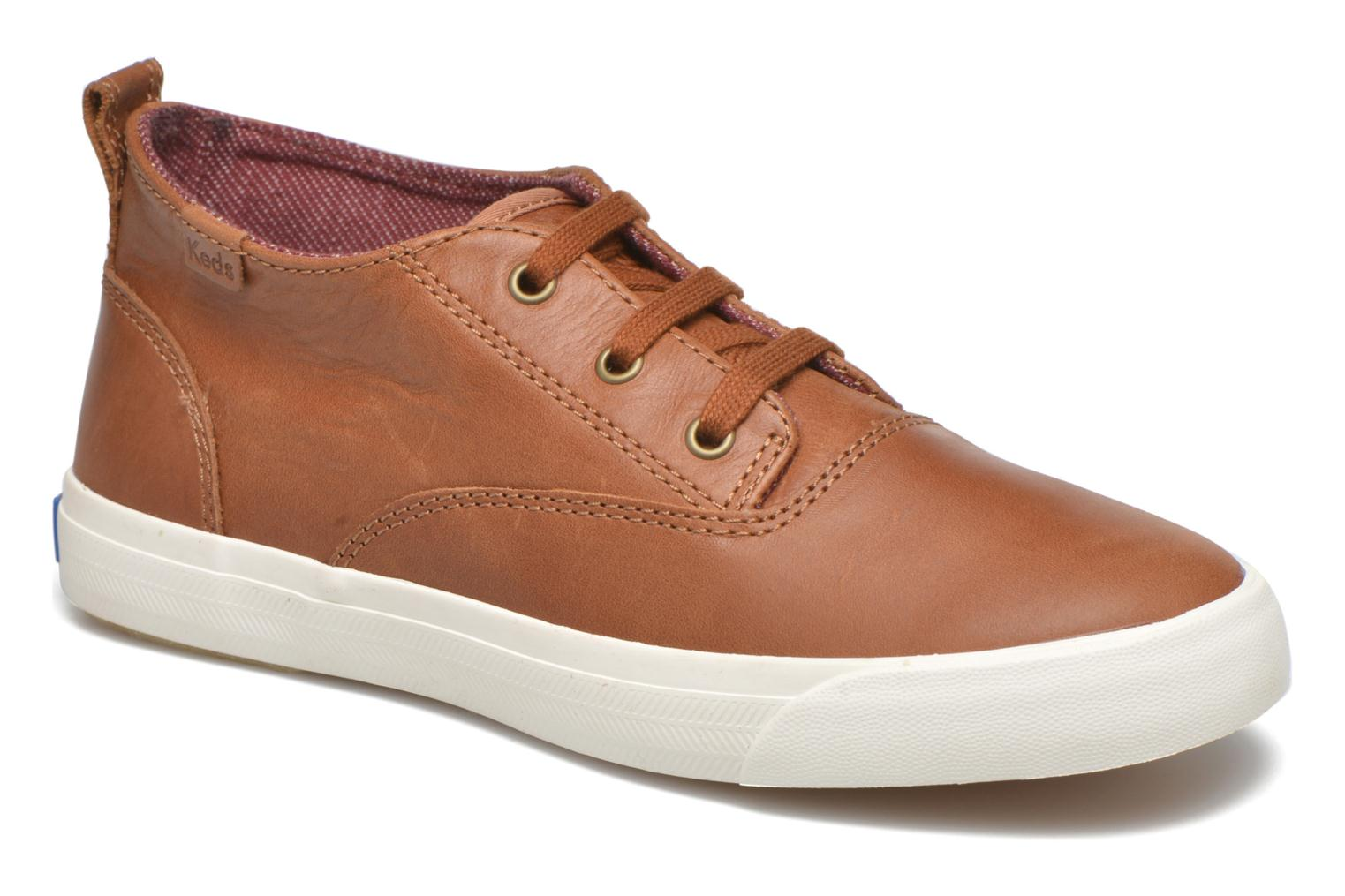 Sneakers Keds Triumph Mid Leather Bruin detail