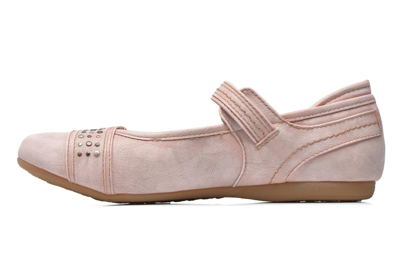 Ballerinas Mustang shoes Julietta rosa ansicht von vorne