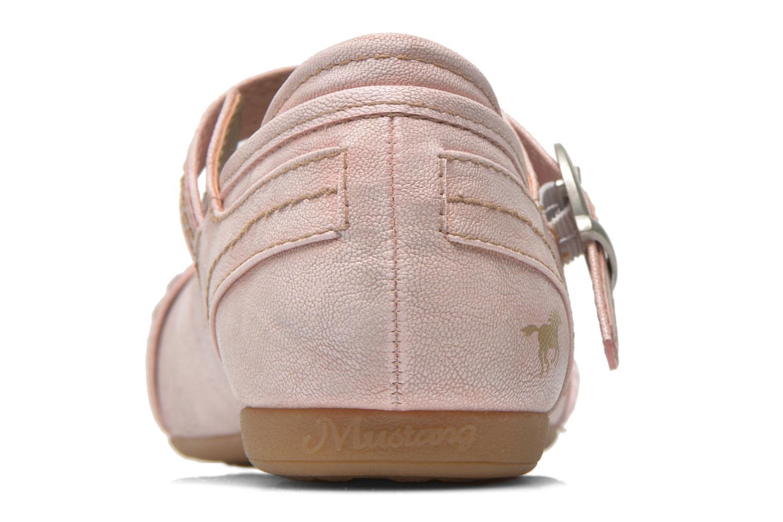 Ballerinas Mustang shoes Julietta rosa ansicht von rechts