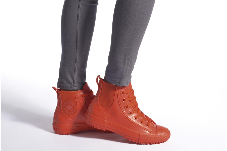 Baskets Converse Ctas Chelsea Boot Rubber Hi Rouge vue bas / vue portée sac