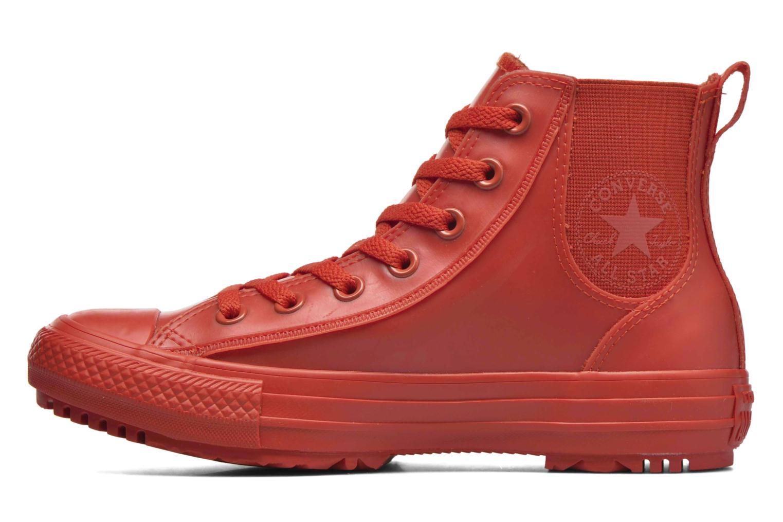 Baskets Converse Ctas Chelsea Boot Rubber Hi Rouge vue face