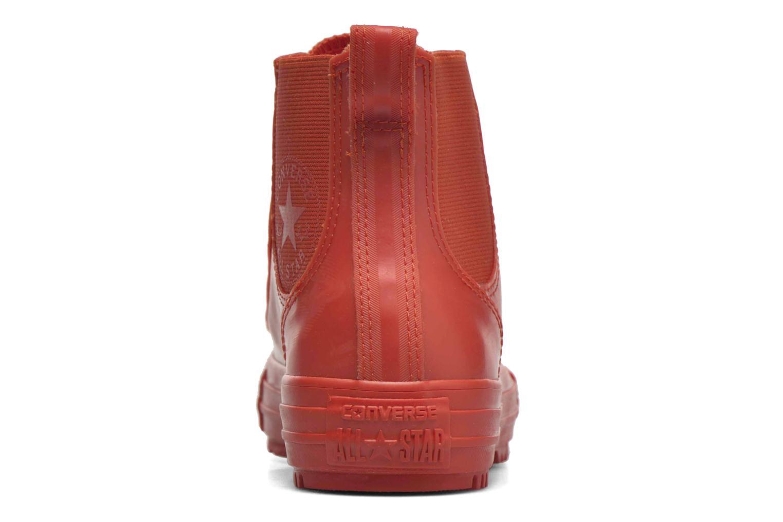 Baskets Converse Ctas Chelsea Boot Rubber Hi Rouge vue droite