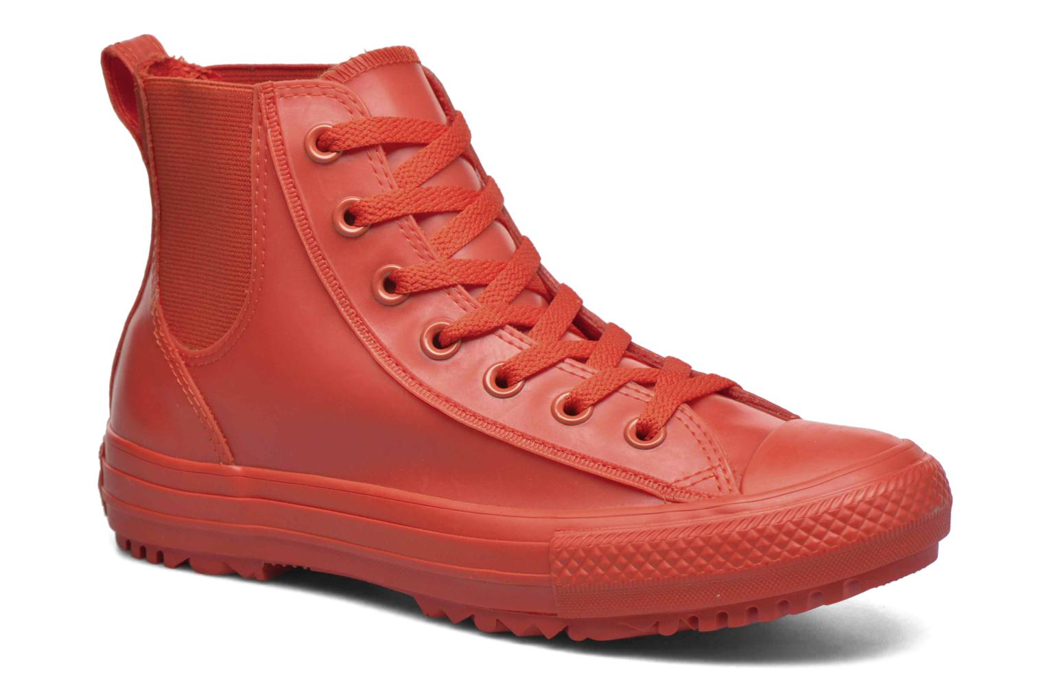 Trainers Converse Ctas Chelsea Boot Rubber Hi Red detailed view/ Pair view