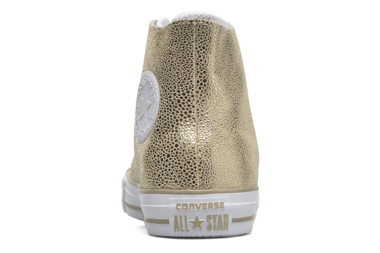 Trainers Converse Ctas Classic Shroud Hi Bronze and Gold back view