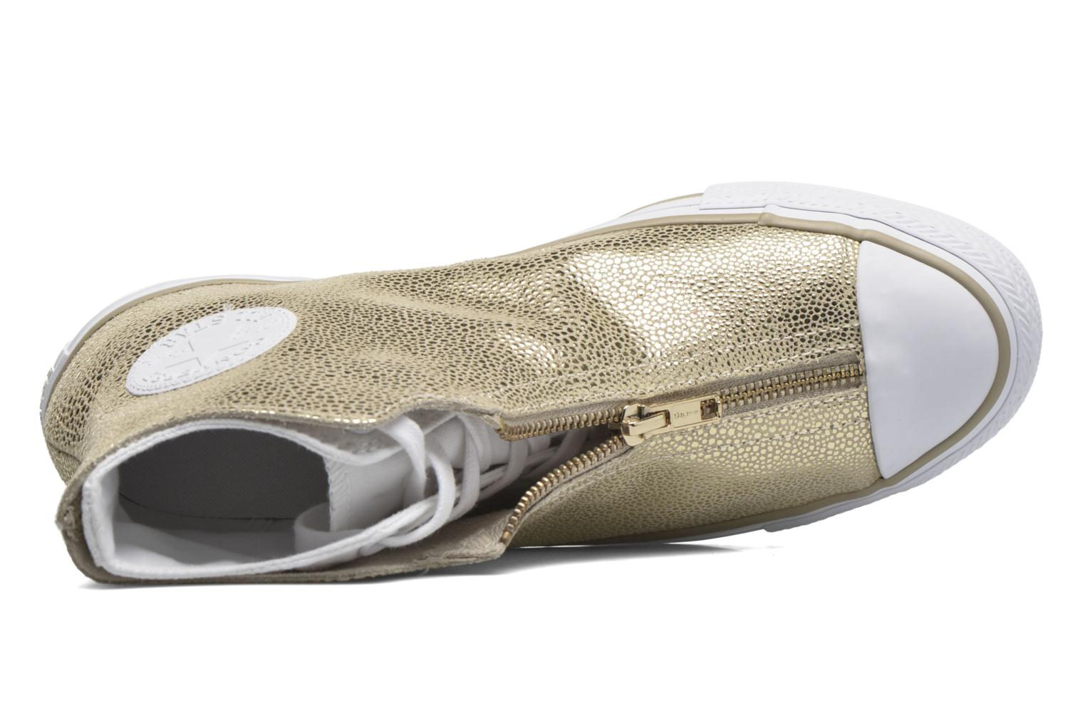 Trainers Converse Ctas Classic Shroud Hi Bronze and Gold view from the left