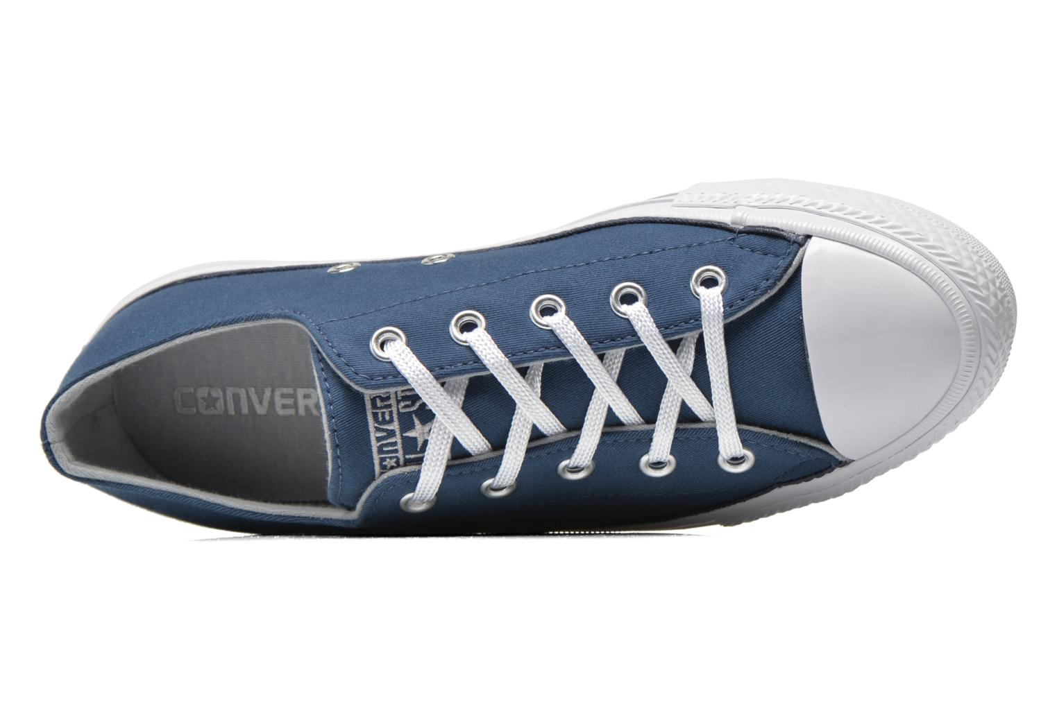 Baskets Converse Chuck Taylor All Star Gemma Twill Ox Bleu vue gauche