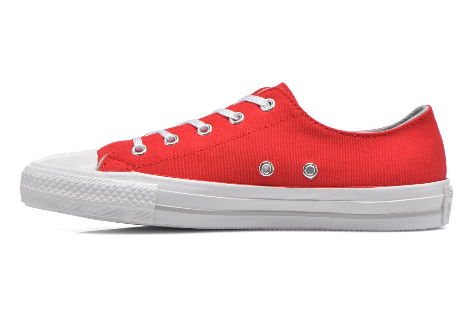 Ruby/Mouse/White Converse Chuck Taylor All Star Gemma Twill Ox (Rouge)